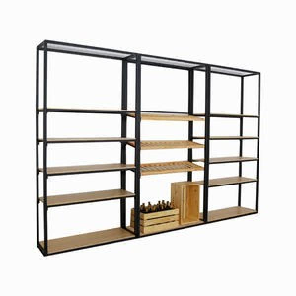 Multi-Functional Metal Clothing Display Stand and Display Shelf for Store #1 image